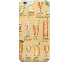 Mid Century Cocktail Suggestions Vintage Design iPhone Case/Skin