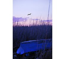 Overturned boat. Photographic Print