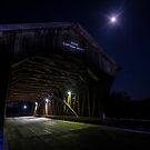 Covered Bridge with full moon  by Sven Brogren