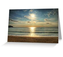 Spanish Beach Greeting Card