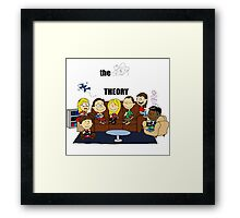 The Big Bang Theory Peanuts Framed Print