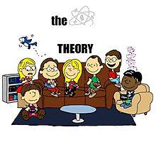 The Big Bang Theory Peanuts Photographic Print