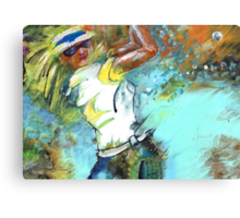 Lady Golf 01 Canvas Print
