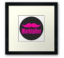 Markiplier's mustache Framed Print