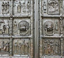 richly decorated ancient gates by mrivserg