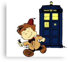 Doctor Who Peanuts Canvas Print