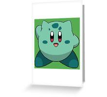 Bulbasaur Kirby Greeting Card