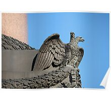 Double headed eagle spreads its wings Poster