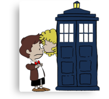 Doctor Who & River Comic Canvas Print