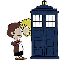 Doctor Who & River Comic Photographic Print