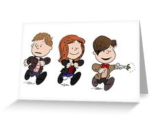 Doctor Who & Amy Comic Peanuts Greeting Card