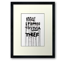 ARTIST PLEDGE Framed Print