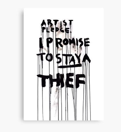 ARTIST PLEDGE Canvas Print