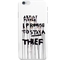 ARTIST PLEDGE iPhone Case/Skin