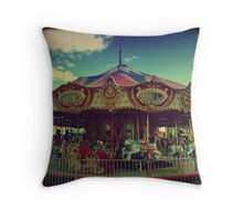 The Carnival Carousel ttv Throw Pillow