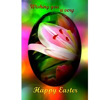 Happy Easter lily egg Photographic Print