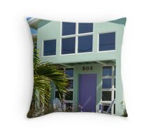 Green & Purple Throw Pillow