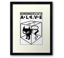 Schrodinger's Cat Science Big Bang Theory Framed Print