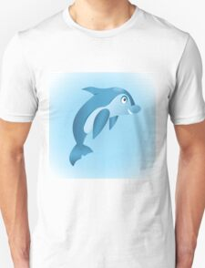 Cute hand drawn blue dolphin. T-Shirt