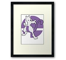 Mewtwo - Super Smash Bros. For Wii U And 3DS Framed Print