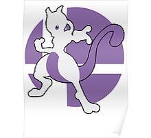 Mewtwo - Super Smash Bros. For Wii U And 3DS Poster