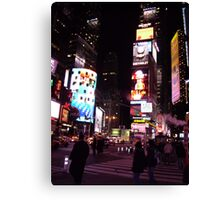 a neon night the city that never sleeps Canvas Print