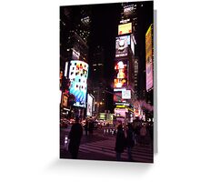 a neon night the city that never sleeps Greeting Card