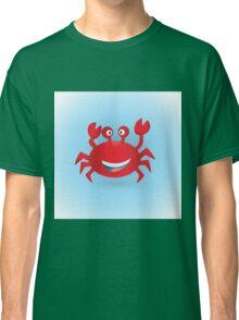 Cute hand drawn red crab. Tropical sea life design. Classic T-Shirt