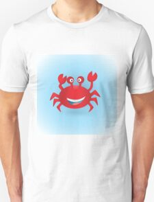Cute hand drawn red crab. Tropical sea life design. T-Shirt
