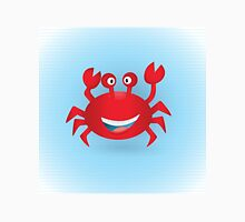 Cute hand drawn red crab. Tropical sea life design. Unisex T-Shirt