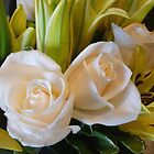 Delicate Roses with Lilies by Elaine Bawden