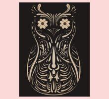 Owl on black background One Piece - Long Sleeve