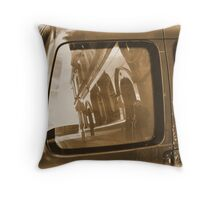 Of pubs, streets and vans Throw Pillow