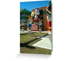 retro mickey Greeting Card