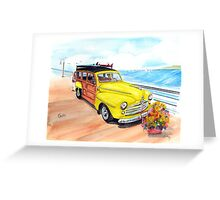 1948 Ford Woody - Springtime on the pier  Greeting Card