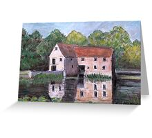 The Old Mill. Sturminster Newton Greeting Card