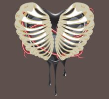 Black Heart in Thorax Kids Clothes