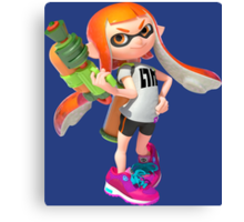 Splatoon Inkling Canvas Print