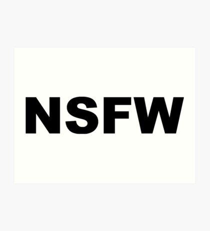 NSFW Art Print