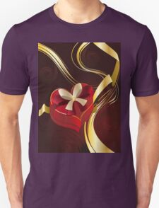 Brown Background with Heart Shaped Box T-Shirt