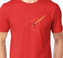 Brush painting a heart Unisex T-Shirt
