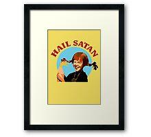 """Pippi Longstocking """"Hail Satan"""" Framed Print"""