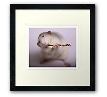 Playing the flute Framed Print