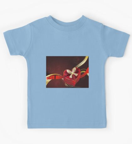 Brown Background with Heart Shaped Box 2 Kids Tee