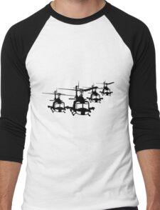 Huey Helicopter Team in Black v1 Men's Baseball ¾ T-Shirt