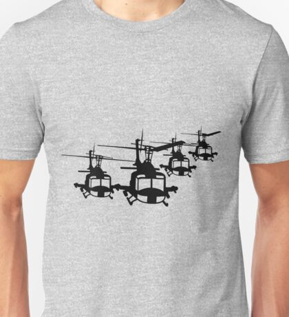Huey Helicopter Team in Black v1 Unisex T-Shirt