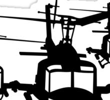 Huey Helicopter Team in Black v1 Sticker