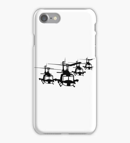 Huey Helicopter Team in Black v1 iPhone Case/Skin