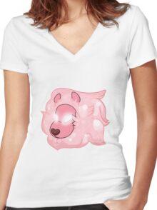 Pink Lion- Steven Universe Women's Fitted V-Neck T-Shirt