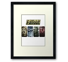 Fallout Helmets - 4 Simbols (ordered) Framed Print